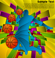 abstract sport design basketball player vector image vector image