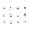 advocacy flat color icons set vector image