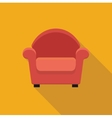 Armchair stylized icon vector image