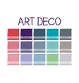 Art Deco Color Tone vector image vector image