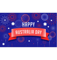 australia day fireworks and celebration poster vector image vector image
