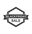 black friday sale discount label ribbon vector image vector image