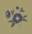 black onyx helleborus flowers vector image vector image