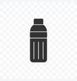 bottle icon on transparent background vector image