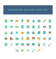 branding and design icon set with colorful modern vector image vector image