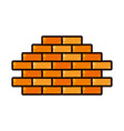 brick wall isolated icon vector image