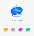 bubble chat communication speech talk 5 color vector image