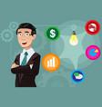 businessman having an idea concept vector image vector image