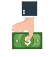cash money isolated icon vector image vector image