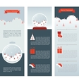 Christmas Infographic set of three info cards vector image
