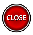 Close icon red round button vector image