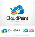 cloud paint logo template vector image