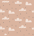 cloud pattern cute sky seamless background vector image vector image