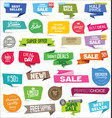 collection modern sale stickers and tags vector image
