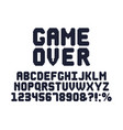 computer 8 bit game font retro video games pixel vector image