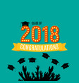 congratulations on graduation 2018 class vector image vector image