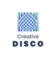 creative disco logo template modern element for vector image