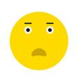 cute surprised emoticon vector image vector image