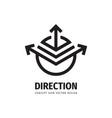 direction arrow concept logo design development vector image vector image