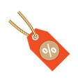 discount label tag icon flat vector image