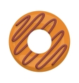 donut with spiral in chocolate glazed vector image vector image