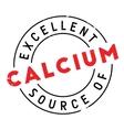 Excellent source of calcium stamp vector image vector image