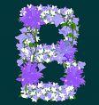 flower letter vector image