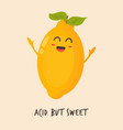 funny happy lemon character design vector image vector image