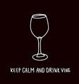 funny vine glass poster design vector image vector image