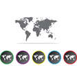 Global map icons vector image vector image