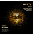 gold disco ball party background vector image vector image