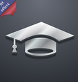 Graduation icon symbol 3D style Trendy modern vector image