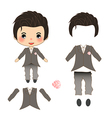Groom Wedding Suit Costume vector image vector image
