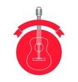 Guitar shop logo template vector image