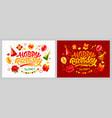 happy birthday celebration greeting cards vector image