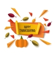 Happy Thanksgiving banner with abstract pumpkin vector image