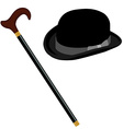 Hat and stick vector image vector image