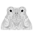 Head froggy coloring for adults vector image