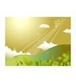 Hill landscape background vector image vector image