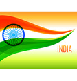 indian flag made with tricolor wave vector image vector image