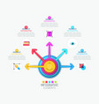 infographic design layout with central circular vector image