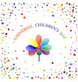 international children s day colorful background vector image vector image
