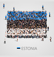 large group of people in the shape of estonian vector image vector image