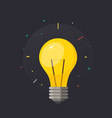 light bulb with rays shine vector image