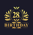 luxury 28th birthday logo 28 years celebration