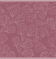 magnolia drawing seamless pattern vector image vector image