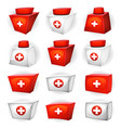 medicine box icons for ui game vector image vector image