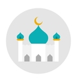 Mosque icon flat vector image vector image