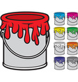 Paint bucket vector image vector image