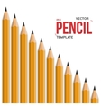 Photorealistic Graphite Office Pencil vector image